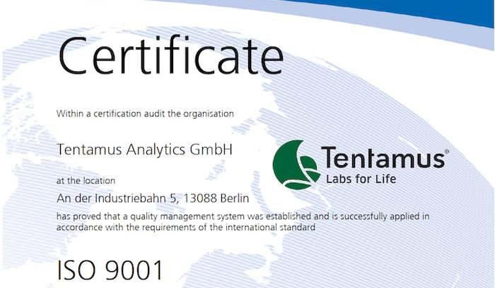 ISO 9001 Tentamus